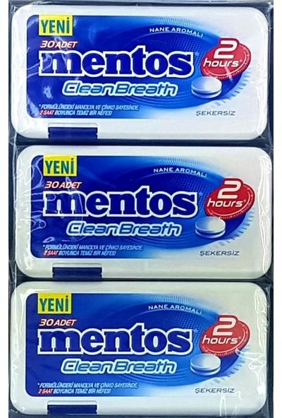 Mentos Cleanbreath 2 Hours Yoğun Nane 12 x 21 gr