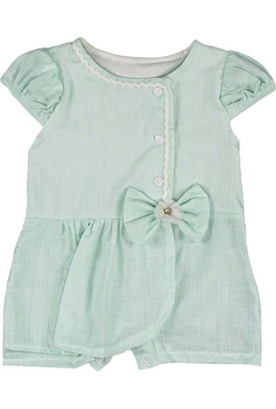 Nono Baby Kız Bebek Şort Etekli Tulum Fırfırlı - Yeşil - 6-9 Ay