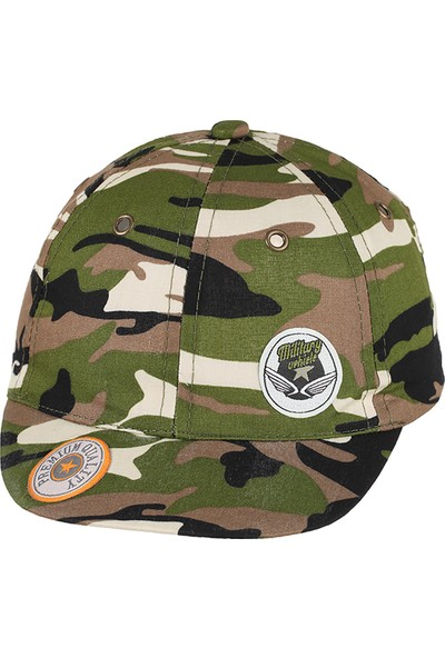 Kitti Erkek Çocuk Kep Şapka 1-4 Yaş Yeşil