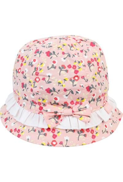 Kitti Kız Bebek Maksi Şapka 0-18 Ay Somon