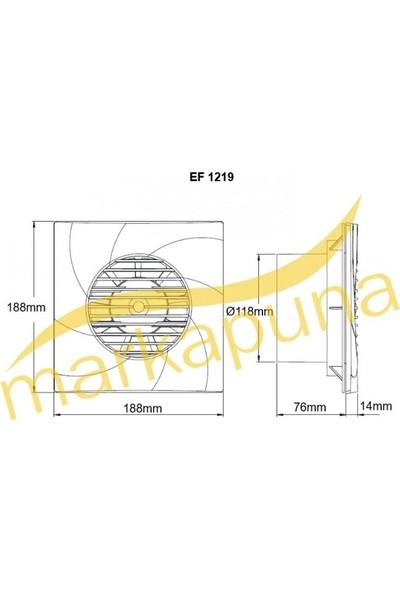 Bahçıvan EF 1219 Dekoratif Plastik Banyo ve Tuvalet Aspiratörü