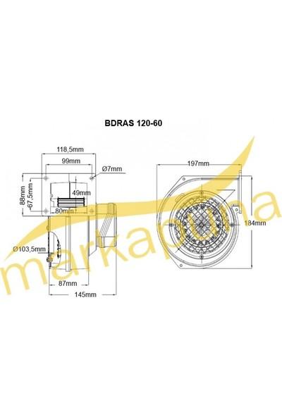 Bahçıvan BDRAS 120-60 Alüminyum Gövdeli Salyangoz Kazan Fanı