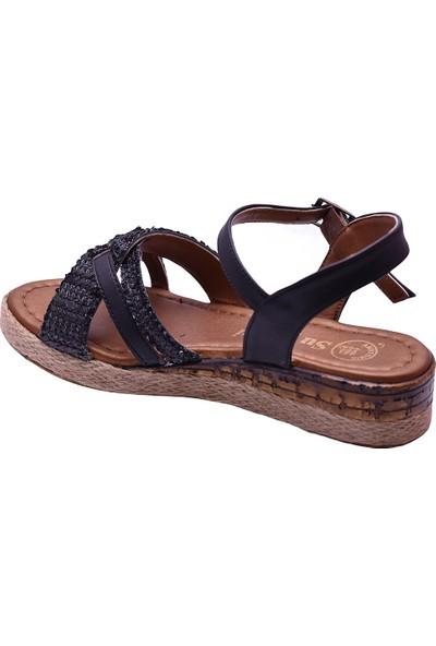 Ayakkabı Burada Ayakkabiburada 45 Rahat Günlük Kadın Sandalet