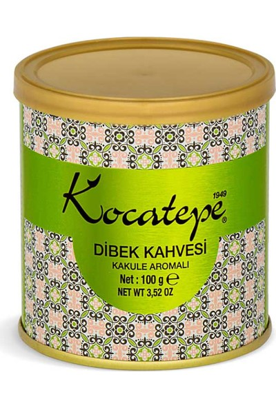 Kocatepe Türk Kahvesi Dibek 100 gr Teneke