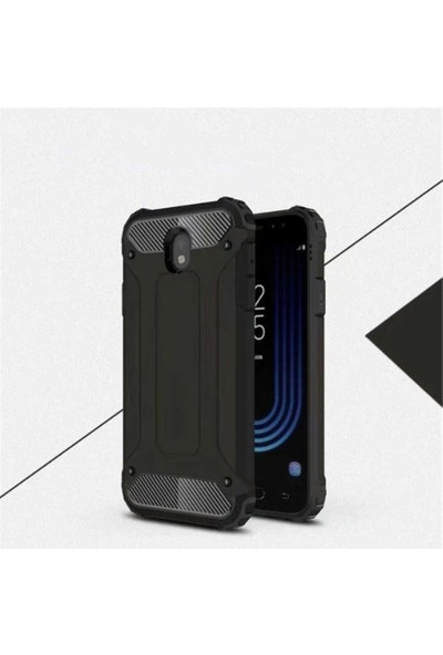 Nezih Case Samsung J730 Pro Uyumlu Ultra Koruyucu Silikon Kılıf Siyah
