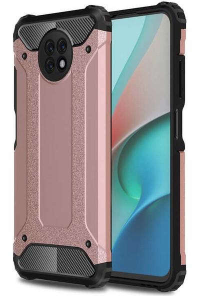 Nezih Case Xiaomi Redmi Note 9 5g Uyumlu Ultra Koruyucu Silikon Kılıf Rose Gold