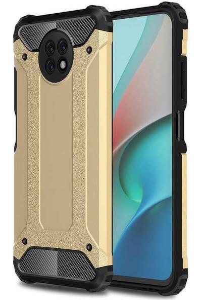 Nezih Case Xiaomi Redmi Note 9 5g Uyumlu Ultra Koruyucu Silikon Kılıf Gold