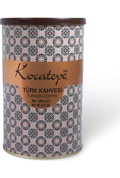 Kocatepe Türk Kahvesi 250 gr Teneke