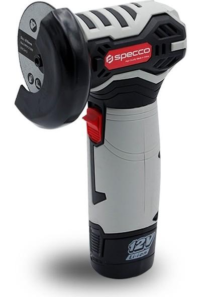 Specco SP12V-4034 12 V 1.5 Ah 76 mm Akülü Açılı Taşlama Makinesi