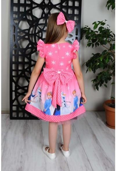 MNK Pembe Elsa Kız Çocuk Elbise
