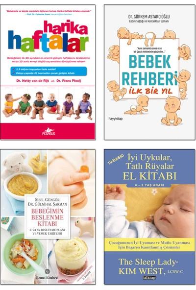 Harika Haftalar + Bebeğimin Beslenme Kitabı + Bebek Rehberi Ilk Bir Yıl + Iyi Uykular Tatlı Rüyalar El Kitabı / Bebek Bakımı Gelişimi 4 Kitap Set