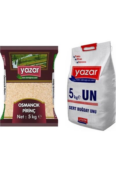 Yazar 2'li Kumanya Gıda Ziyafet Paketi 5 Kg. Osmancık Pirinç + 5 Kg. Un