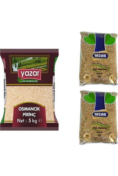 Yazar 2'li Kumanya Gıda Ziyafet Paketi 5 Kg. Osmancık Pirinç + 5 Kg. Yeşil Mercimek