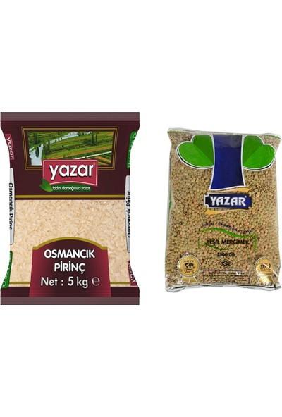 Yazar 2'li Kumanya Gıda Ziyafet Paketi 5 Kg. Osmancık Pirinç + 2.5 Kg. Yeşil Mercimek