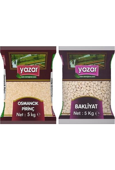 Yazar 2'li Kumanya Gıda Ziyafet Paketi 5 Kg. Osmancık Pirinç + 5 Kg. Yazar Çumra Fasulye