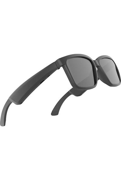 Coverzone Akıllı Mikrofonlu Stereo Ses Çıkışlı Bluetooth 5.0 USB Şarjlı Güneş Gözlüğü Siyah