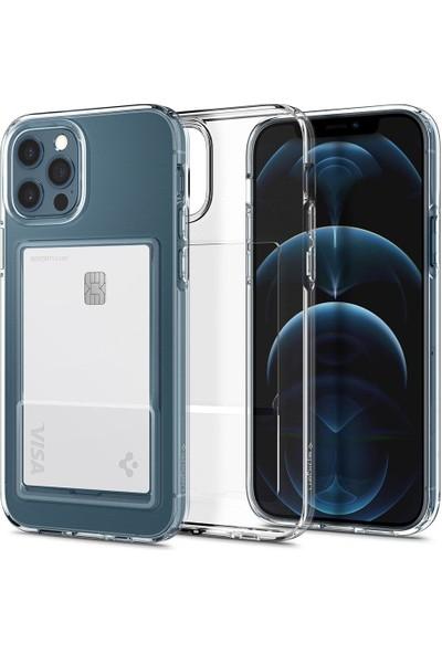 Spigen Apple iPhone 12 / iPhone 12 Pro Kılıf Crystal Slot Crystal Clear - ACS02576