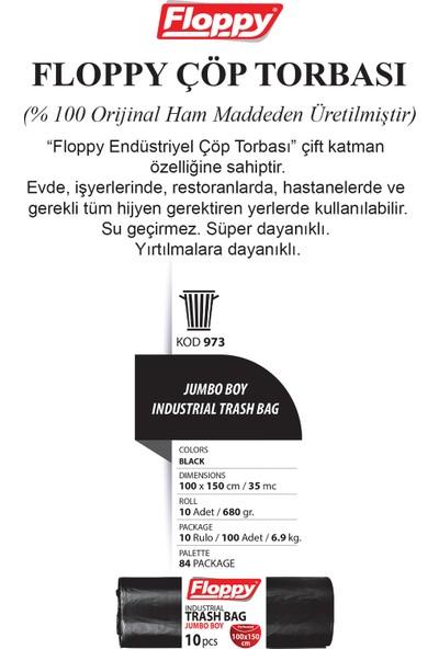 Floppy Ağır Sanayi Endüstriyel Çöp Torbası 100X150 cm 10'lu 700 gr 10 Rulo 3 Lü