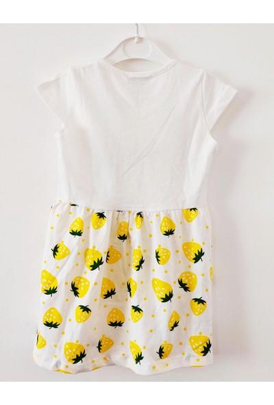 Paty Kids Çilek Desenli Elbise