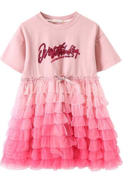 Little Honey Bunnies Tütü Detaylı Pembe Elbise