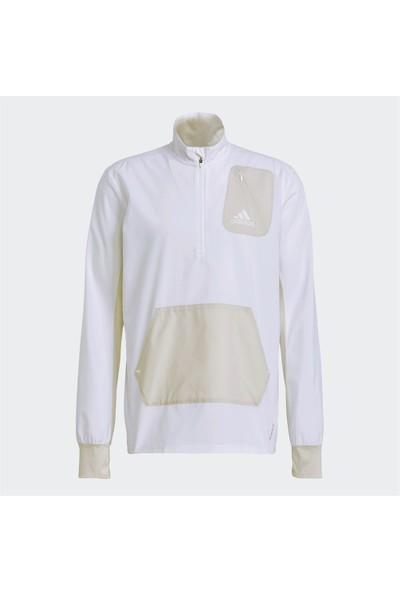 Adidas Primeblue Half-Zip Runninng Erkek Sweatshirt