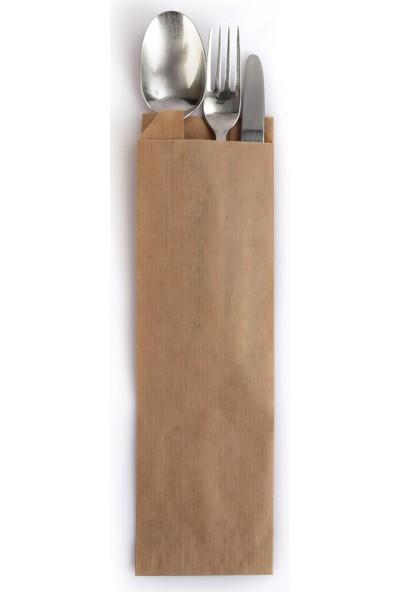 Anadolu Kağıtçılık Çatal-Kaşıklık - Dürümlük Çizgili Şamua 40 G Kraft Kese Kağıdı Ithal 8 x 28 cm 10 kg 2500'LÜ