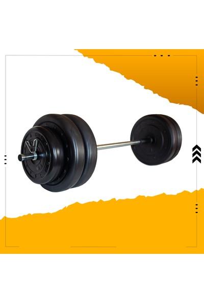 Fitset 63 kg Halter Seti ve Dambıl Seti Ağırlık Fitness Seti