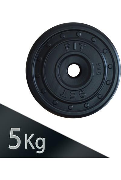 Fitset 5 kg Dambıl ve Halter Ağırlık Plaka