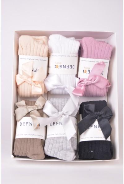Defne Baby Defnee Baby 6 Lı Kurdalelikız Çocuk Külotlu Çorap KKLT-013
