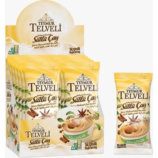 Teymur Telveli Teymur Baharat Aromalı Sütlü Çay 12 x 7 gr