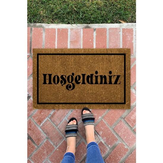 Buket Home Hoşgeldiniz Iç ve Dış Mekan Dekoratif Çok Amaçlı Kapı Önü Paspası