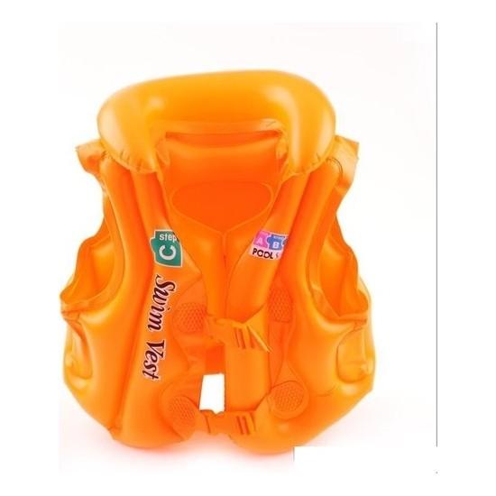 Deembro Turuncu Can Yeleği 3-7 Yaş Havuz Deniz 58 Cm-48 cm Çocuk Can Yeleği Yüzme Öğrenme Can Yelekleri