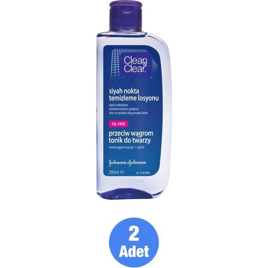 Clean&Clear Clean & Clear Siyah Nokta Temizleme Losyonu 200 ml X2