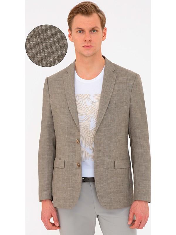 Pierre Cardin Açık Kahverengi Slim Fit Ceket 50200015-VR002