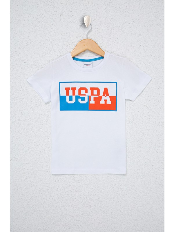 U.S. Polo Assn. Erkek Çocuk Beyaz T-Shirt 50238499-VR013