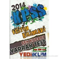 Yediiklim KPSS 2014 Eğitim Bilimleri Çek Kopart Yaprak Test