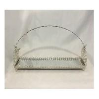 Jardinyer Kulplu Lazerli Kurabiyelik Gümüş 16x50