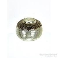 Lucky Art Gümüş Cam Kc Tealight 10 Cm