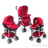 Chicco Trio Sprint Seyahat Sistem Bebek Arabası / Red