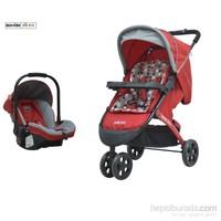 Massimo Ricco Forte P109 Seyahat Sistem Bebek Arabası / Kırmızı