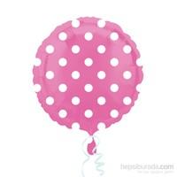 KullanAtMarket Pembe Puantiyeli Folyo Balon 43 Cm 1 Adet