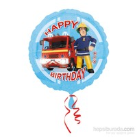 KullanAtMarket Fireman Sam Happy Birthday Folyo Balon 43 Cm 1 Adet