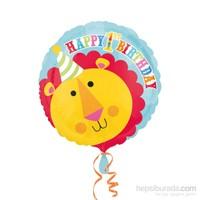 Kullanatmarket Neşeli Sirk Aslan Folyo Balon 43 Cm 1 Adet