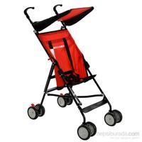 WellGro Easy Wheels Baston Bebek Arabası / Kırmızı