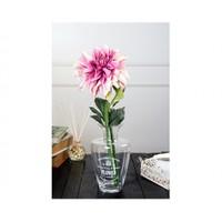 Madame Coco Dekoratif Yapay Çiçek Pembe / Beyaz Yıldız Çiçeği 95 Cm