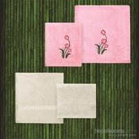 Taç Casabel Bambu Havlu Seti Grace Pembe&Ekru