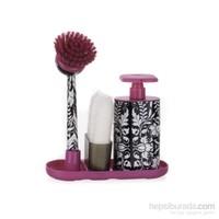 Vıgar Pembe Roccoco Sıvı Sabunluk+Fırça Seti