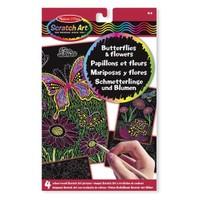 Melissa&Doug Kazıma Sanatı - Renkleri Ortaya Çıkar - Kelebekler Ve Çiçekler