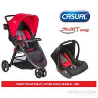 Casual Smart Trona Seyahat Sistem Bebek Arabası 2015 Sezon / Kırmızı