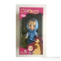 Toyshome Simba Toys Masha Günlük Kıyafetli Oyuncak Bebek 12 Cm ( Mavi )